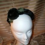Black Plush Rose & Holly (venduto)